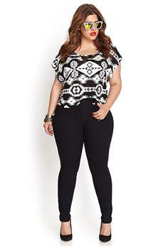 Mid-Rise - Skinny Jeans (Regular) | FOREVER21 PLUS - 2000056807