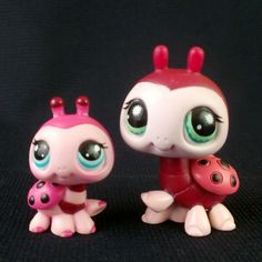 Littlest Pet Shop 888 1423 Ladybug Toy LPS Figure HASBRO 2007 Small and Big