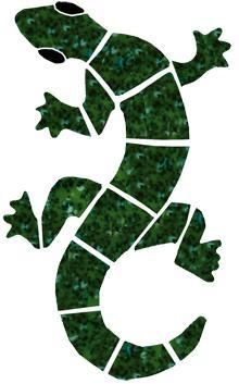 southwestern mosiac glass designs geccos | Ceramic Small Green Gecko Mosaic
