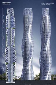 Rotating Skyscrapers - Mexico's New Twin Towers #creative #inspiration #building #awesome #design #graphicdesign #designer #architecture #architects #picoftheday #like #follow #travel #user #interior #modern #berlin #newyork #picture #world #app #minimal #minimalism #skyscrapers #skyscraper