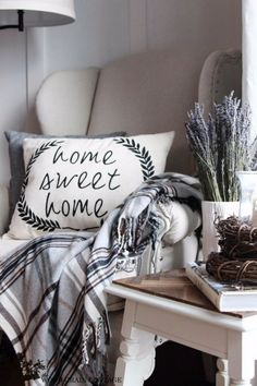 DIY Pillows and Creative Pillow Projects - Make a Cottage Farmhouse Home Sweet Home Pillow - Decorative Cases and Covers, Throw Pillows, Cute and Easy Tutorials for Making Crafty Home Decor - Sewing Tutorials and No Sew Ideas
