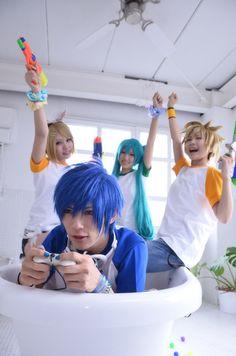 Cosplay  Vocaloid/Kagamine Rin, Kagamine Len, Hatsune Miku, Kaito
