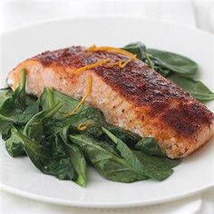Supposed to be the BEST salmon filet recipe ever!  Sounds good.