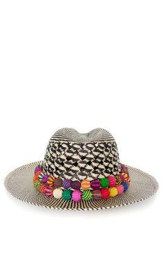 Double Band Panama Hat by Valdez - Moda Operandi ♥