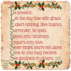 December blessings with love ~ #blessings For app info ~ http://itunes.com/apps/everydayspiritlockscreens