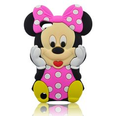 Pink Lovely Mouse iPod Silicone Case Cover for Apple iPod Touch 5th Generation