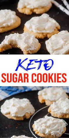 BEST keto dessert, keto snack or keto breakfast thought. Strive these easy & fast selfmade keto cookies - copycat Lofthouse Keto Cookies, Easy Sugar Cookies, Sugar Cookies Recipe, Keto Foods, Ketogenic Recipes, Ketogenic Diet, Chocolate Cookie Recipes, Peanut Butter Cookie Recipe, Best Cookie Recipes