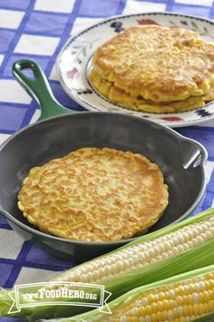 Corn Pancakes | Food Hero - Healthy Recipes that are Fast, Fun and Inexpensive. Kid Approved