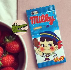 This cute and tasty looking packet of sweets isn't actually a sweet packet, it's a phone case! You can buy these phone cases from www.etsy.com/UK/shop/krokkomilkpatisserie , available for iPhone 5, 6 and 6 plus.