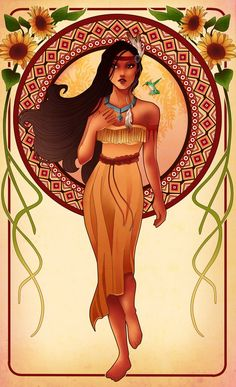 Mucha-Inspired Disney Princesses - Pocahontas