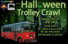 Halloween Trolley Chicago. Cheap Chicago Halloween Ticket. 6 Hours To Party. 20+ Bars. Buy Tix Now.
