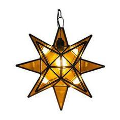 Amber Glass Star