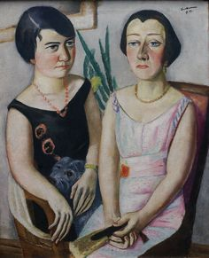 Max Beckmann (Leipzig 1884 - New York 1950), Doppelbildnis (1923) ~Via Carolyn Hastings