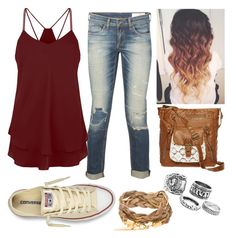 """""""Ombré """" by parker1126 on Polyvore featuring rag & bone, Converse and T-shirt & Jeans"""