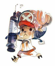 Tony Tony Chopper, syringe, cute; One Piece