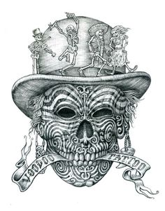 Voodoo Tattoo - Original Graphite Pencil on Paper