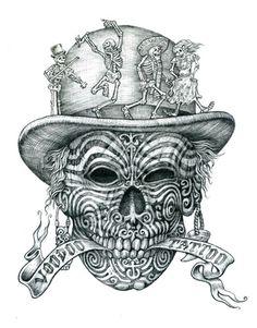 Voodoo Tattoo - Original Graphite Pencil on Paper
