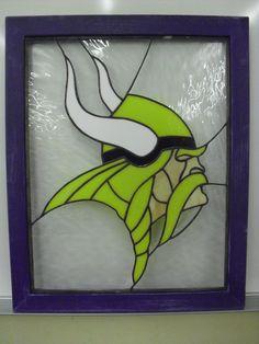 Minnesota Vikings Stained Glass
