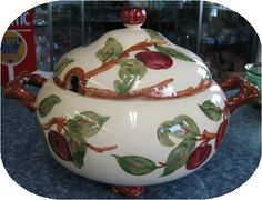 Apple Footed Soup Tureen Franciscan