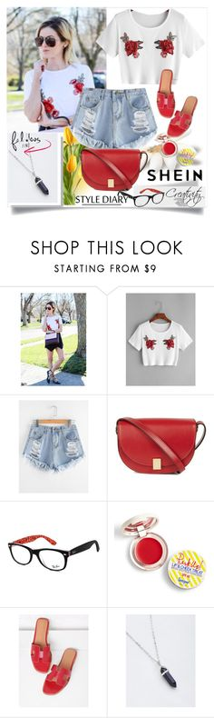"""SHEIN  1/3"" by creativity30 ❤ liked on Polyvore featuring Victoria Beckham, Ray-Ban and Supergoop!"