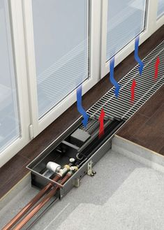 In floor radiator Hydronic Heating, Underfloor Heating, Refrigeration And Air Conditioning, Prefab Cabins, Heating And Plumbing, Geothermal Energy, O Gas, Home Technology, Heating Systems