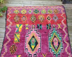 Vintage Boujaad rug.    Material : Wool    Size (Excluding tassels): 205 cm × 180 cm . 6.7 feet x 5.9 feet