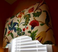 Suzy H's discussion on Hometalk. A New Window Treatment - A cheery and bright window treatment for my powder room.