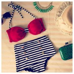 High Waist Bikini - Shopaholic $50.... For when I lose all the weight this is the first thing I am getting!!
