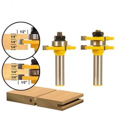 1/2Inch Shank Tongue Groove Router Bit 3Teeth T Shape Woodwork Cutter Tool