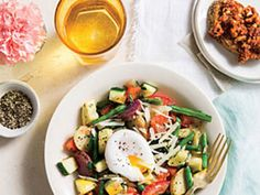 Vegetable Hash with Poached Eggs - cookinglight.com
