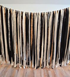 Black Gold and Silver Fabric Garland Sparkly by theruffleddaisy