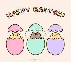Happy Easter!  Animated version: http://pusheen.com/post/83311675047