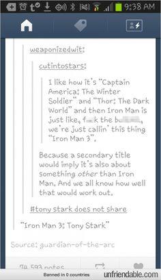 Iron man three: tony stark