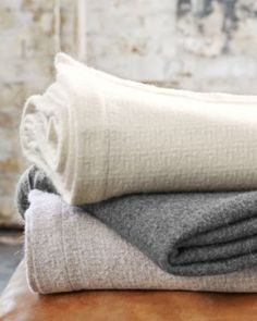 Made in Peru, this blanket of pure baby alpaca is exquisitely soft to the touch. Lightweight yet warm, for year-round comfort. By Eileen Fisher Home for Garnet Hill.