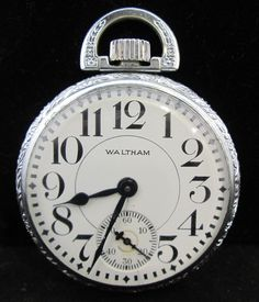 c.1920's Waltham Railroad Pocket Watch