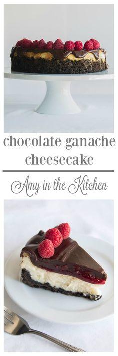 Chocolate Gananch Cheesecake from AmyintheKitchen.com