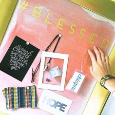 blessed  For what in your life do you feel blessed? How do you honour those things?  I like to use this board to pin the things that remind me of my favourite moments; times and places I'm grateful for. This month I'm using it to remember my time spent meeting and working with Color By Amber artisans and stylists in Chiapas Mexico. The fabric swatch is a favourite keepsake of my learning to weave. (So much harder than I imagined! Oh do you see the same fabric in the cuff I'm wearing? Good…