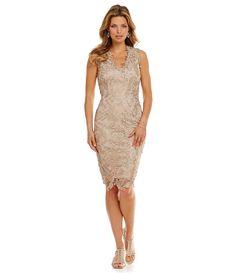 JS Collections Soutache Lace Sheath Dress