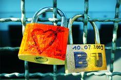 Padlocks in Love. Cologne bridge, Germany.