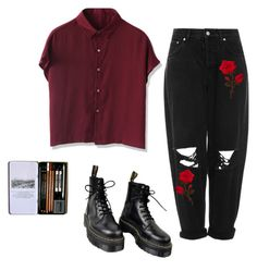 """Untitled #19"" on Polyvore featuring Chicwish, Boutique and Dr. Martens"