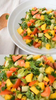 Salada Vinagrete de Manga Mango vinaigrette for your weekends Healthy Salad Recipes, Raw Food Recipes, Vegetable Recipes, Appetizer Recipes, Mexican Food Recipes, Healthy Snacks, Vegetarian Recipes, Healthy Eating, Cooking Recipes