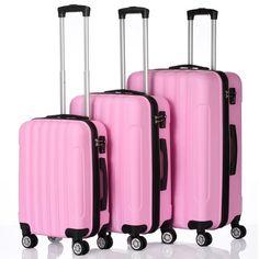 Pink Luggage, Luggage Case, Carry On Luggage, Luggage Sets, Travel Luggage, Travel Set, Girls Luggage, Travel Style, Suitcase Storage