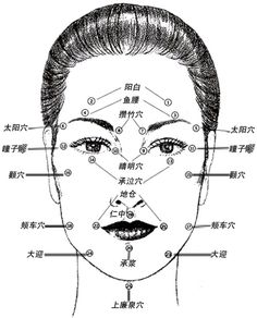 Acupuncture Points Chart Face Lift Acupuncture Points
