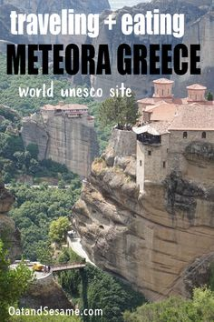 "Meteora means ""suspended in air"" and this is exactly how these incredible 14th century monasteries appear.  #GREECE 