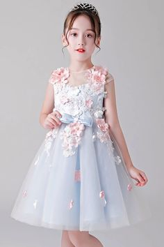 A-Line Cap Sleeves Tulle Flower Girl Dresses – Angrila Designer Flower Girl Dresses, Cute Flower Girl Dresses, Tulle Flower Girl, Tulle Flowers, Cheap Dresses, Dresses For Sale, Prom Dresses Australia, Beautiful Party Dresses, Prom Dress 2014