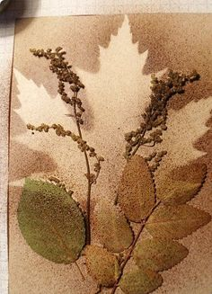 Leaf Watercolor Ink Art | We Know How To Do It