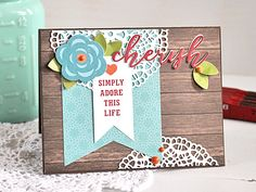 """""""Cherish"""" card by Kimberly Crawford with the """"I Love Family"""" collection and designer dies from #EchoParkPaper"""