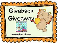 Kindergarten Lifestyle Giveback Giveaway -- $25 TpT gift certificate plus TONS of other goodies!
