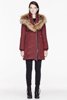 MACKAGE Burgundy Fur