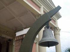 Bell of Nasugbu church, used as hospital in WW2.